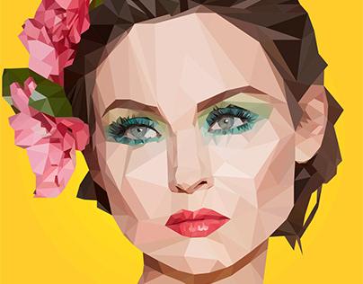 Sophie Ellis Bextor low poly