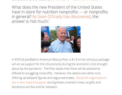 POTUS Biden's stimulus plan for nonprofits