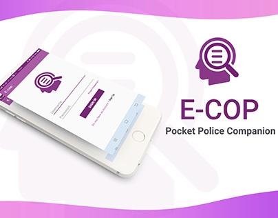 E-COP (Pocket Police Companion ) Basic APP UI design