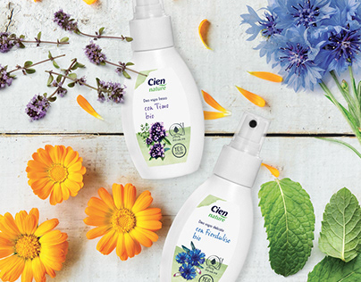 Packaging design Detergent and Deodorant Cien Nature