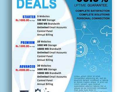Web Hosting Company Promotion Design