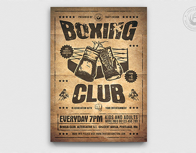 Boxing Classes Flyer Template V2