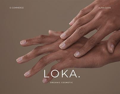 LOKA E-COMMERSE organic cosmetics online store