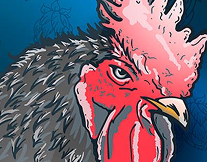 Ilustración - Gallo Negro