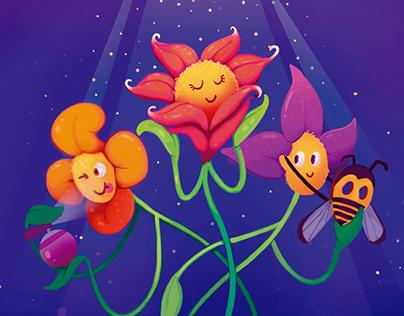 Guarda que son flores