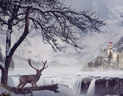Winter castle | matte painting | making of