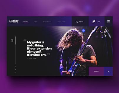 Music Beatz Website Concept