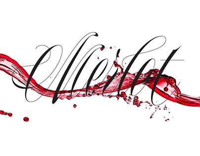 Wine type lettering