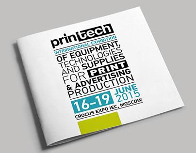 Logo, keyvisual & brochures of Printech exhibition
