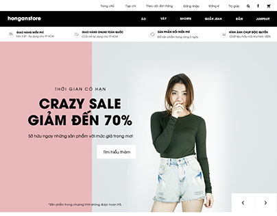 Hong An Store Website