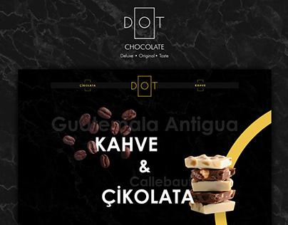 Dot Chocolate Website UI Design