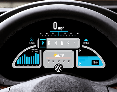 Animation: VW Bug Dashboard