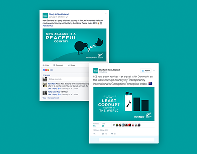 Social Infographic Banners (Study in New Zealand)