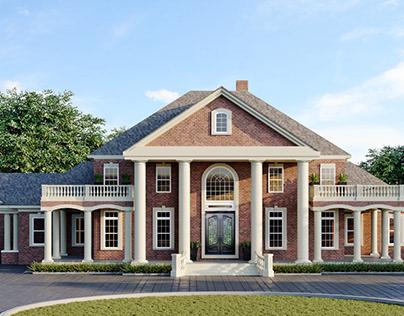 Classic Villa Exterior Rendering St. Louis, MO