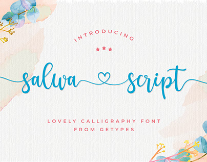 FREE | Salwa Script - a lovely font