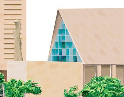 Churches in the city of Baku. Azerbaijan