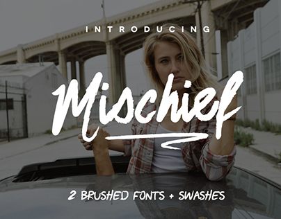 This week's free font: Mischief with two brush fonts +