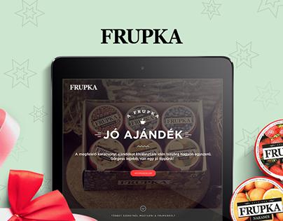 Frupka landing page