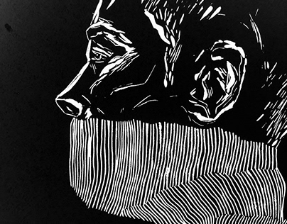I STAND WITH YOU \ linocut print