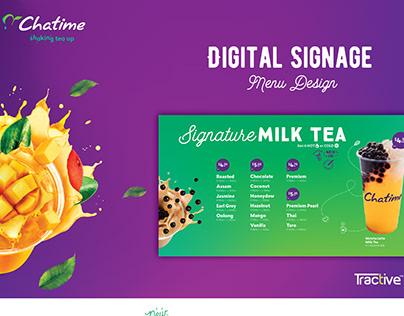 Oldtown White Coffee Digital Signage: Menu Design on Behance