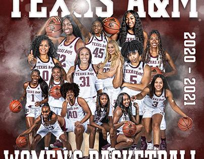 2020 - 2021 TEXAS A&M WOMEN'S BASKETBALL TEAM
