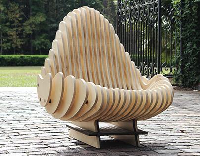 Terraform Chair - CNC Cut Organic Chair