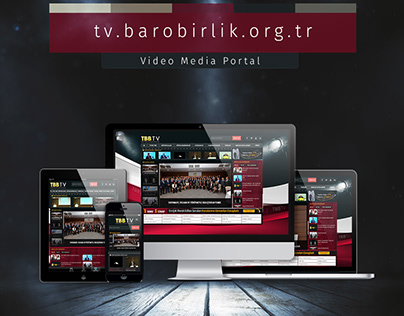 Video Media Portal Responsive Web Design