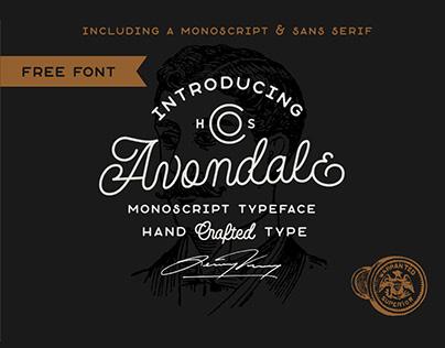 FREE FONT - Avondale Monoscript