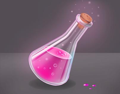 Casual Game Item. Magic Bottle. Tutorial.