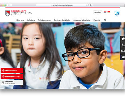 Concept and UI Design Strothoff International School
