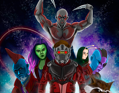 Guardians of the galaxy fan art