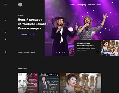 WEBSITE concept for QazaqConcert