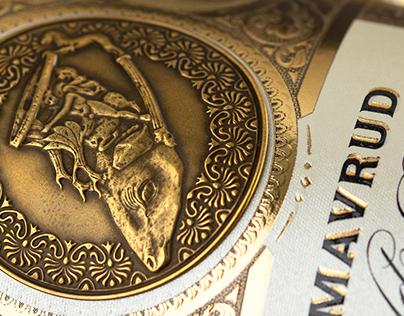 Bulgarian Treasure wine label design by the Labelmaker