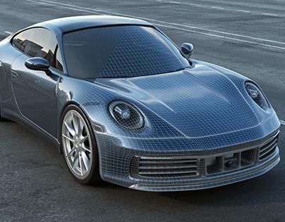 Porsche 911 - 992 - 3D modeling