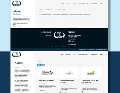 Mahube Wordpress Build