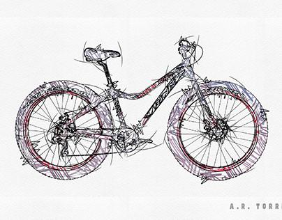 Trinx Fat Bike Digital Sketch