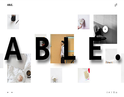 ABLE. FREE WEBSITE TEMPLATE UI