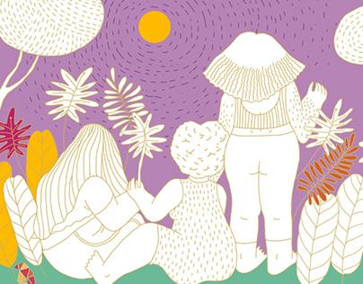 FRIDA Postcard Design // Illustration