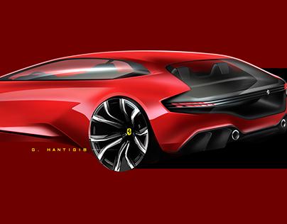 Car design sketches