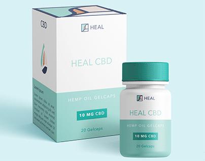 Heal CBD Branding and packaging design