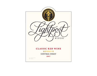 Wine Label Design for Lighthouse Winery