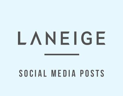 Laneige SG Social Media Posts