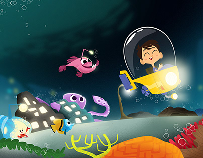 Personalized children's book. Seabed theme