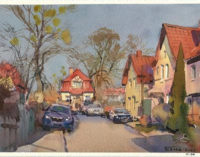 Several days in Kaliningrad & watercolor