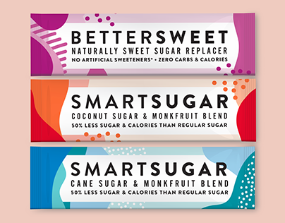 Single Serve Sweetener Stick Pack Packaging Design