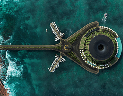 Eco-Floating Hotel, Qatar by Hayri Atak (Haads)