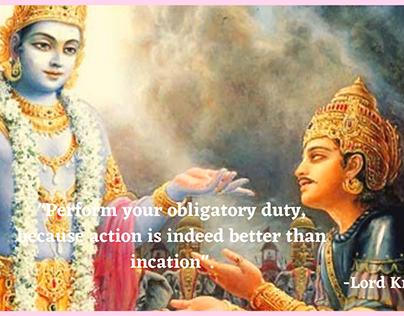 Lord krishna lessons to Arjuna
