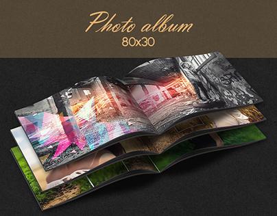Design photo album 80x30cm