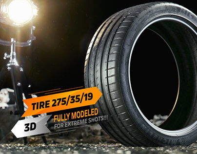 3D Tire Pilot Sport, Full CGI Shots!