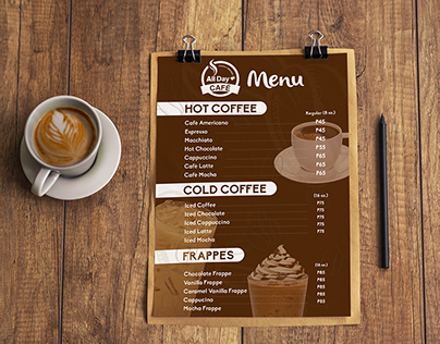 All Day Café Menu